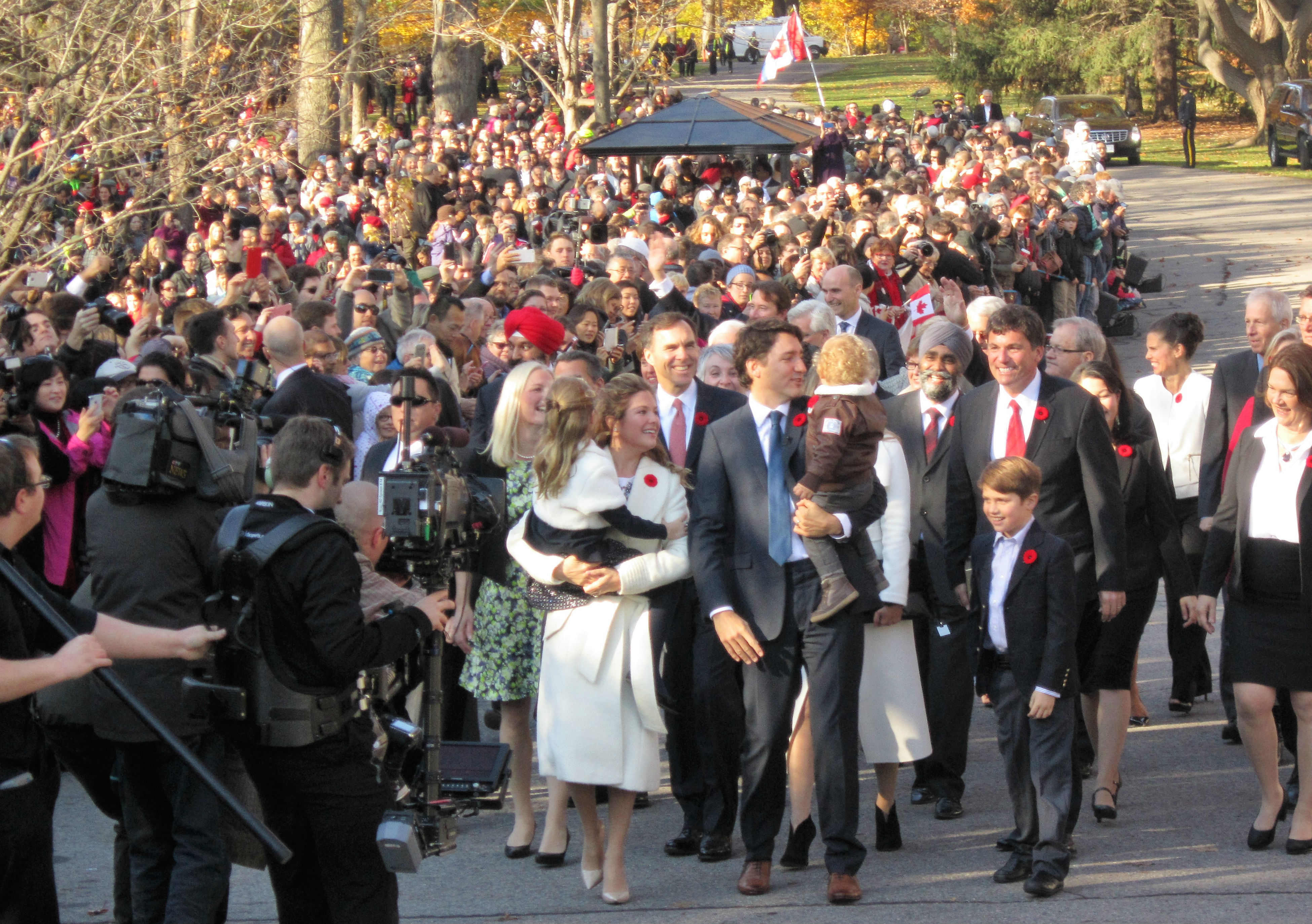 Trudeau sworn in as 23rd prime minister of Canada, new cabinet ...