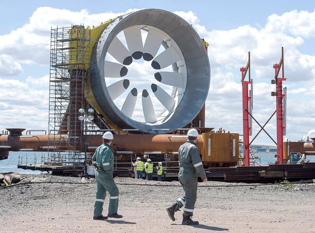 long awaited tidal power turbine to enter bay of fundy next month