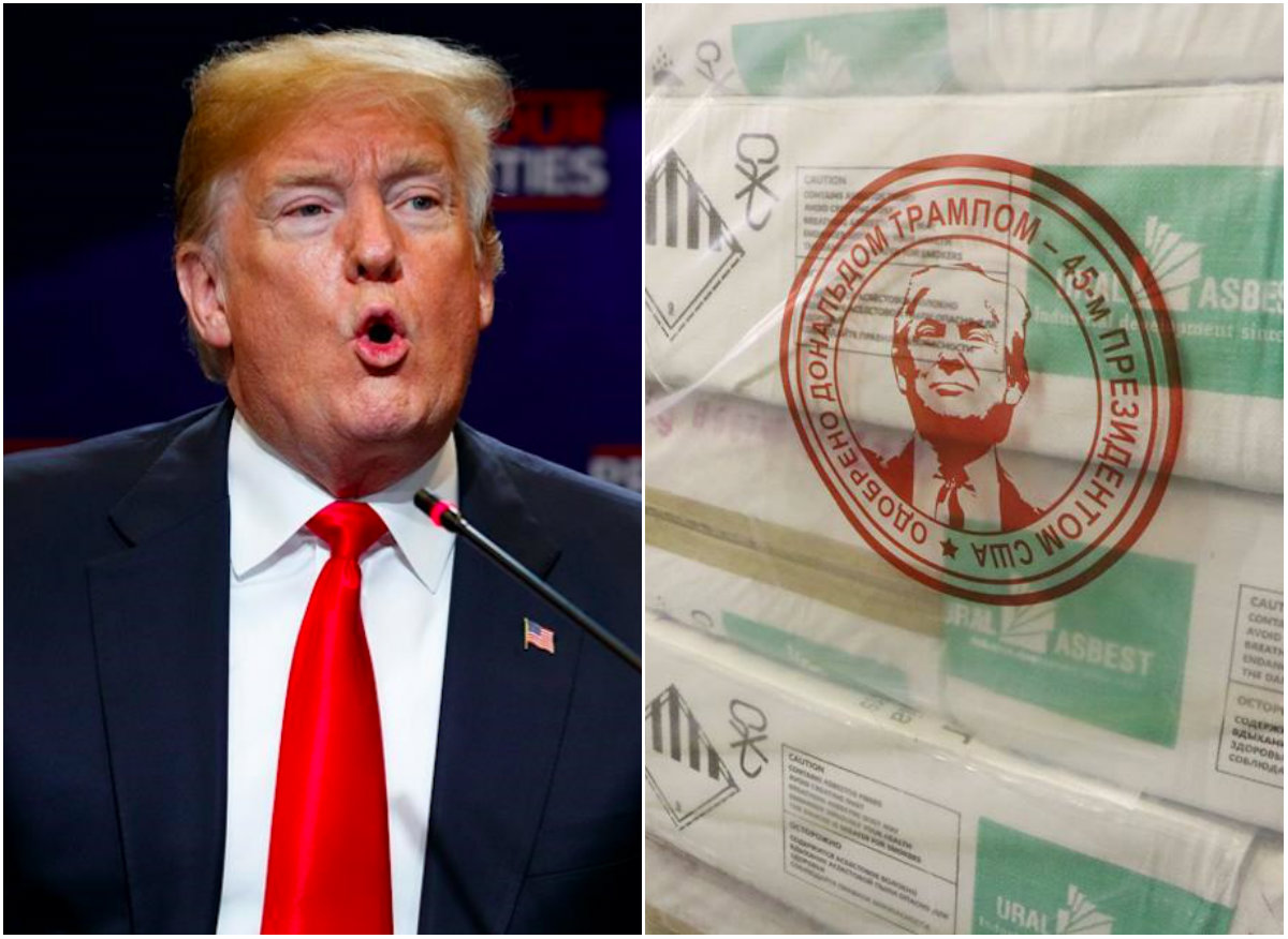 Russian Mining Firm Puts Trump S Face On Its Asbestos