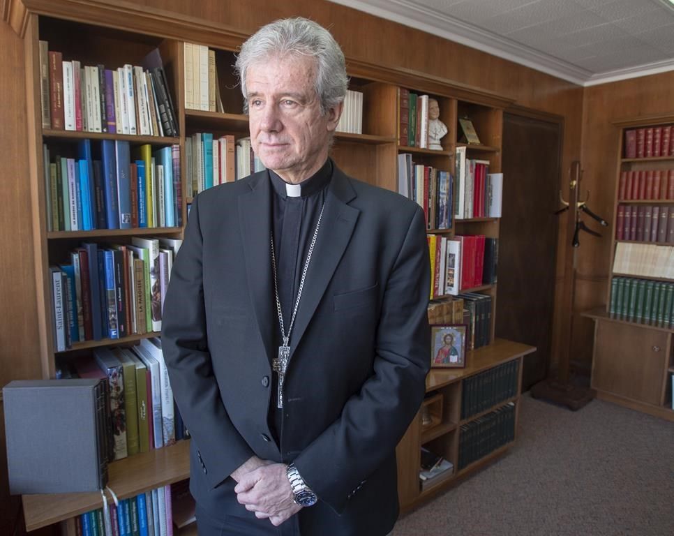 Archbishop fears Quebec government's secularism bill will erode freedoms