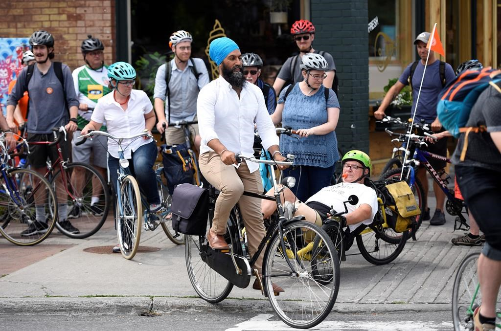 NDP's Singh says Canada needs a national cycling strategy