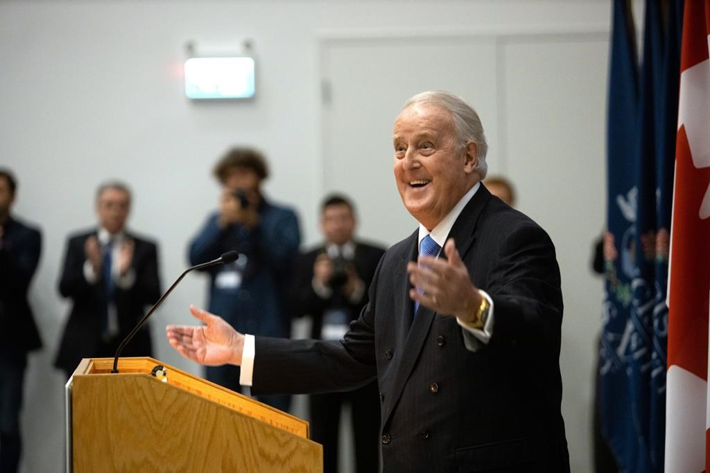 Brian Mulroney officially opens university institute in N.S. that