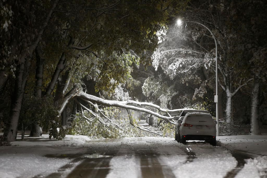 Power out, highways closed: Blast of early winter cripples southern