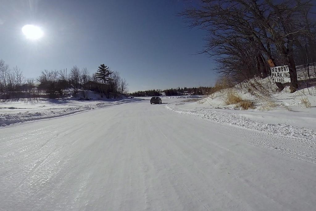 Wood pulp, steel cables: Scientists study how to make ice roads last