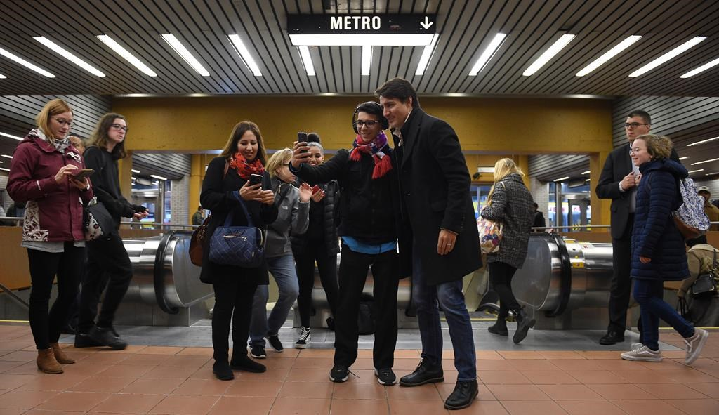 Trudeau thanks morning commuters in his Montreal riding after