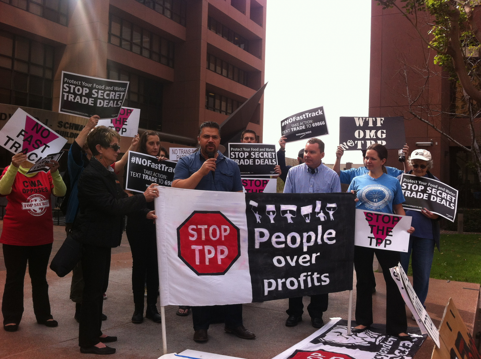 Trans-Pacific Partnership Protest