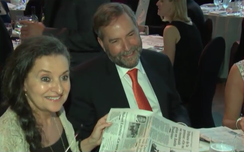 Catherine Pinhas, Thomas Mulcair, 2015 federal election, Canadian politics