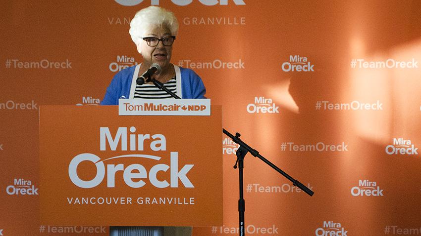 Zoe Oreck, Mina Oreck, NDP, Vancouver Granville, federal election