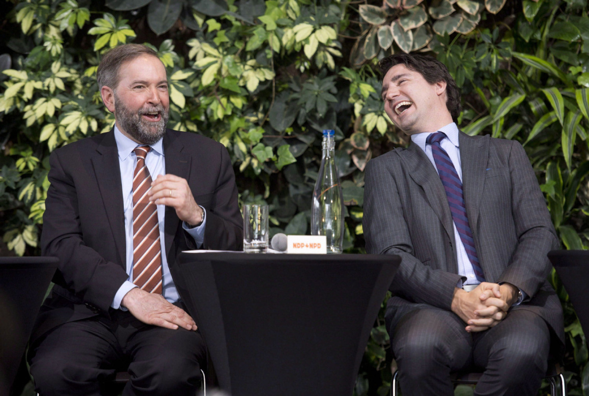 trudeau and mulcair - National Observer - CP