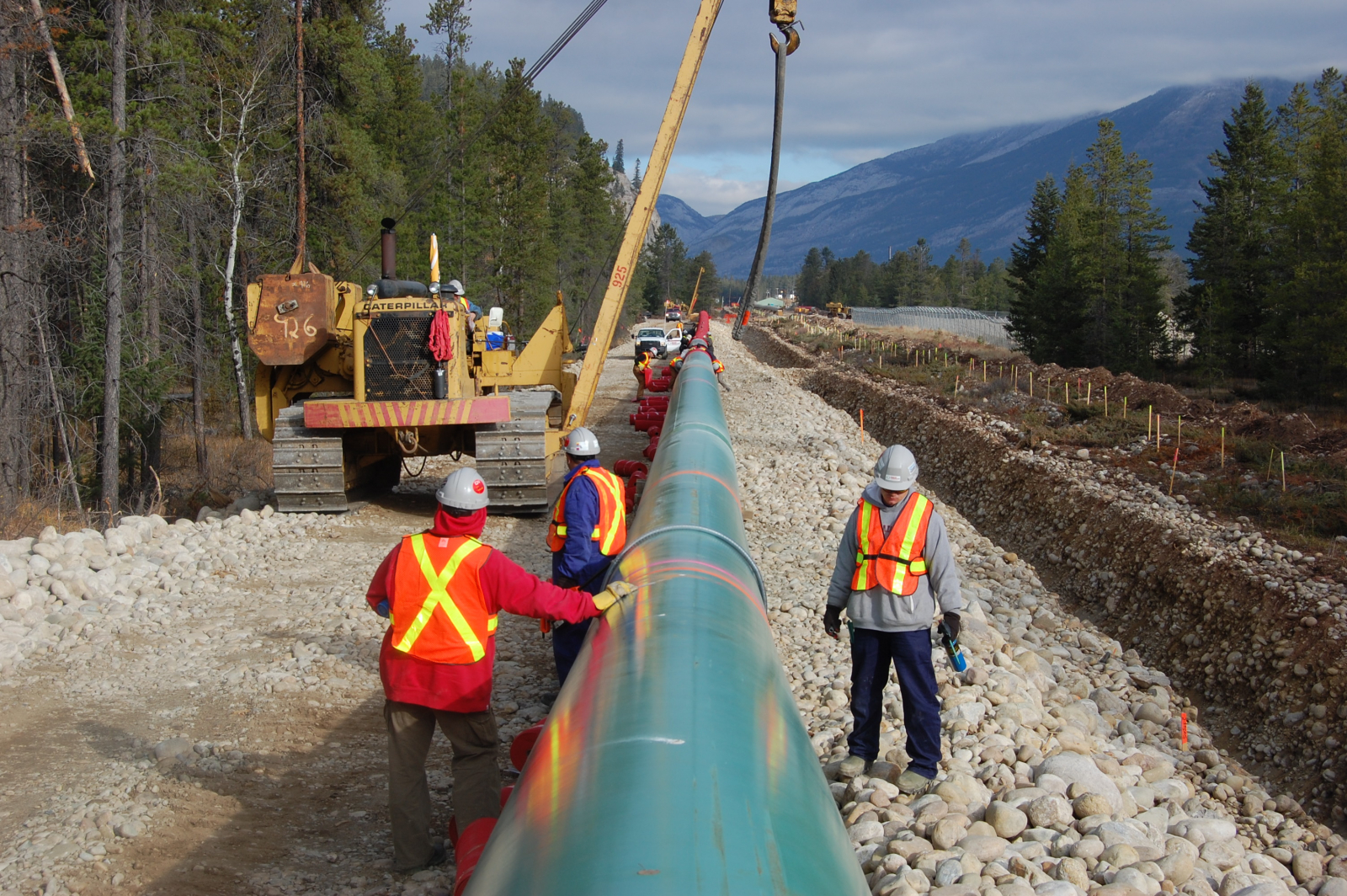 Kinder Morgan Trans Mountain Pipeline Expansion construction - company photo