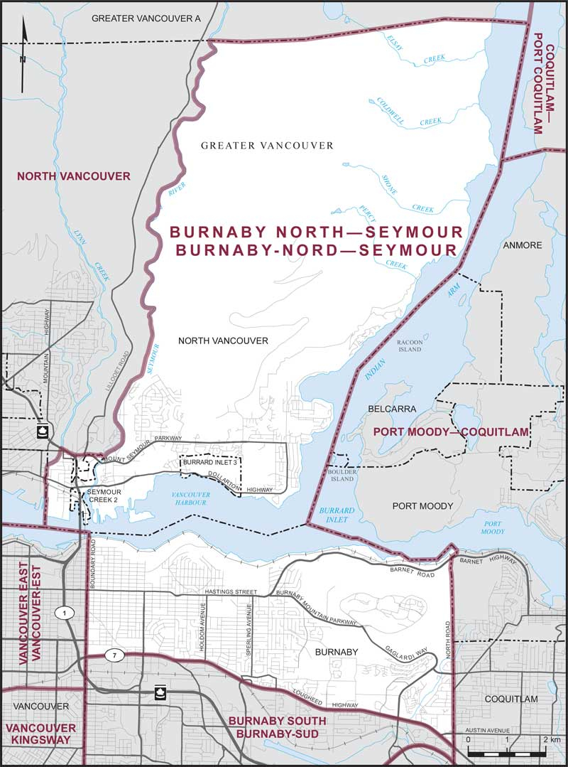 Burnaby North Seymour map - Elections Canada