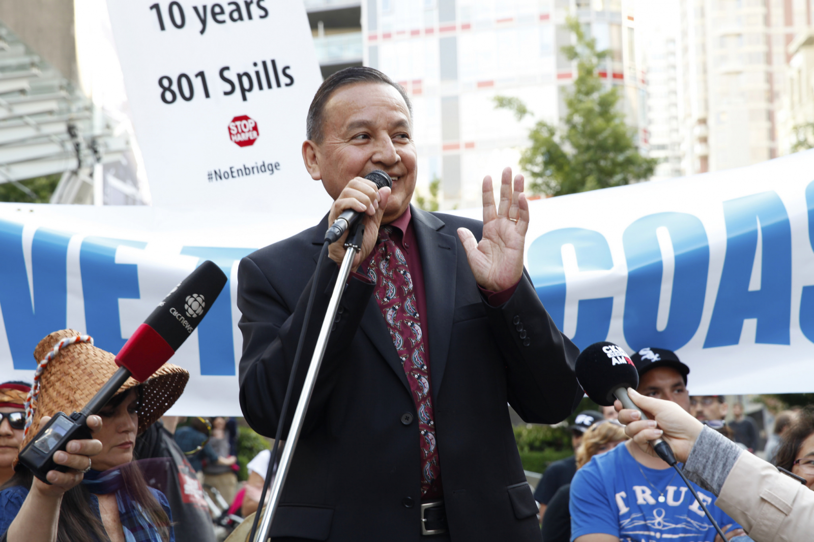 Grand Chief Stewart Phillip Enbridge decision day June 2014 - Mychaylo Prystupa