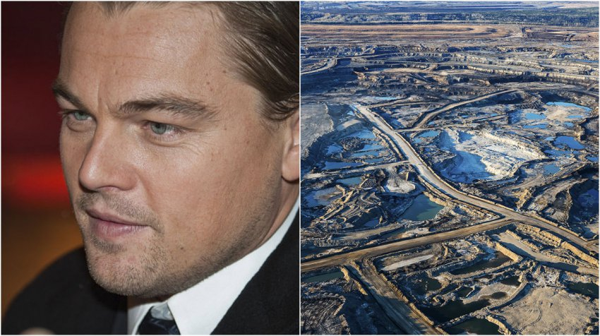 DiCaprio in the oil sands