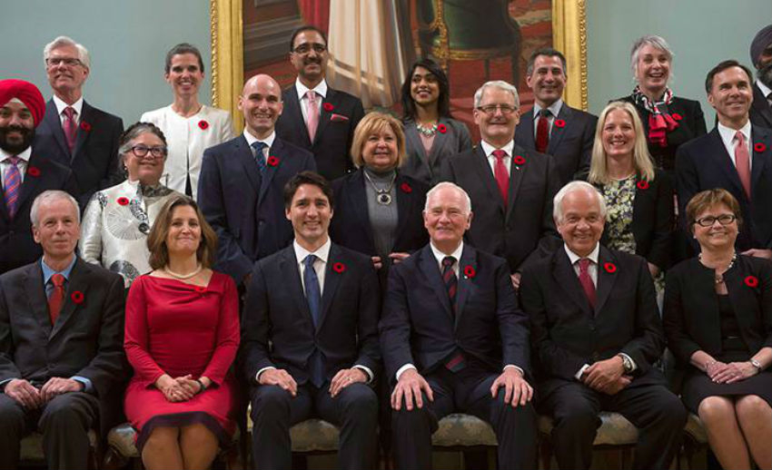 Justin Trudeau, Rideau Hall, swearing in, Liberal Party of Canada, Liberal caucus