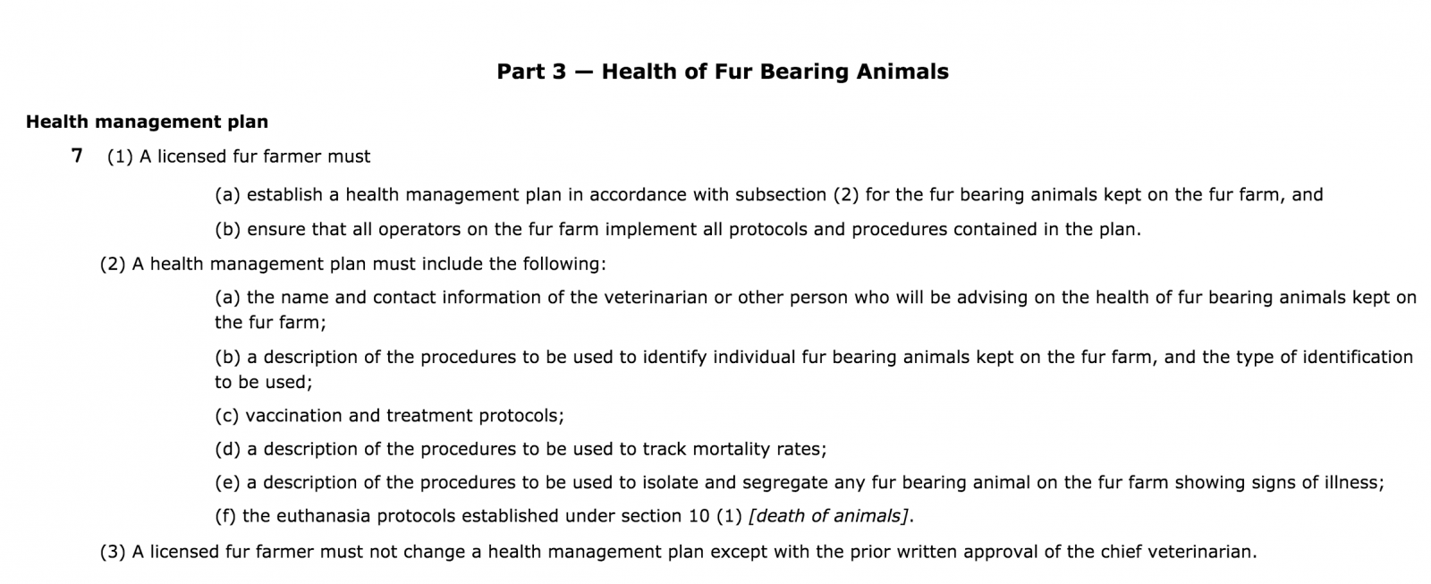 Fur Farm Regulation, B.C. Agriculture Ministry, fur farm, fur industry, fur trade