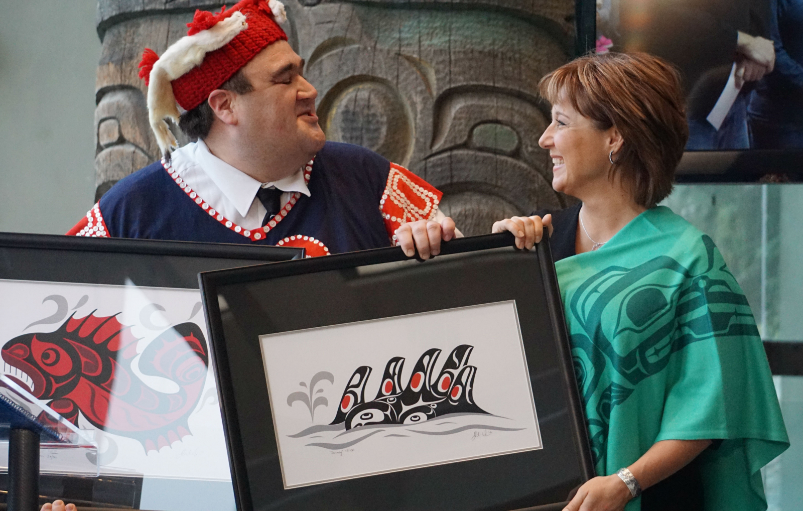 Premier Christy Clark, Nawakolas Council, Dallas Smith, Great Bear Rainforest