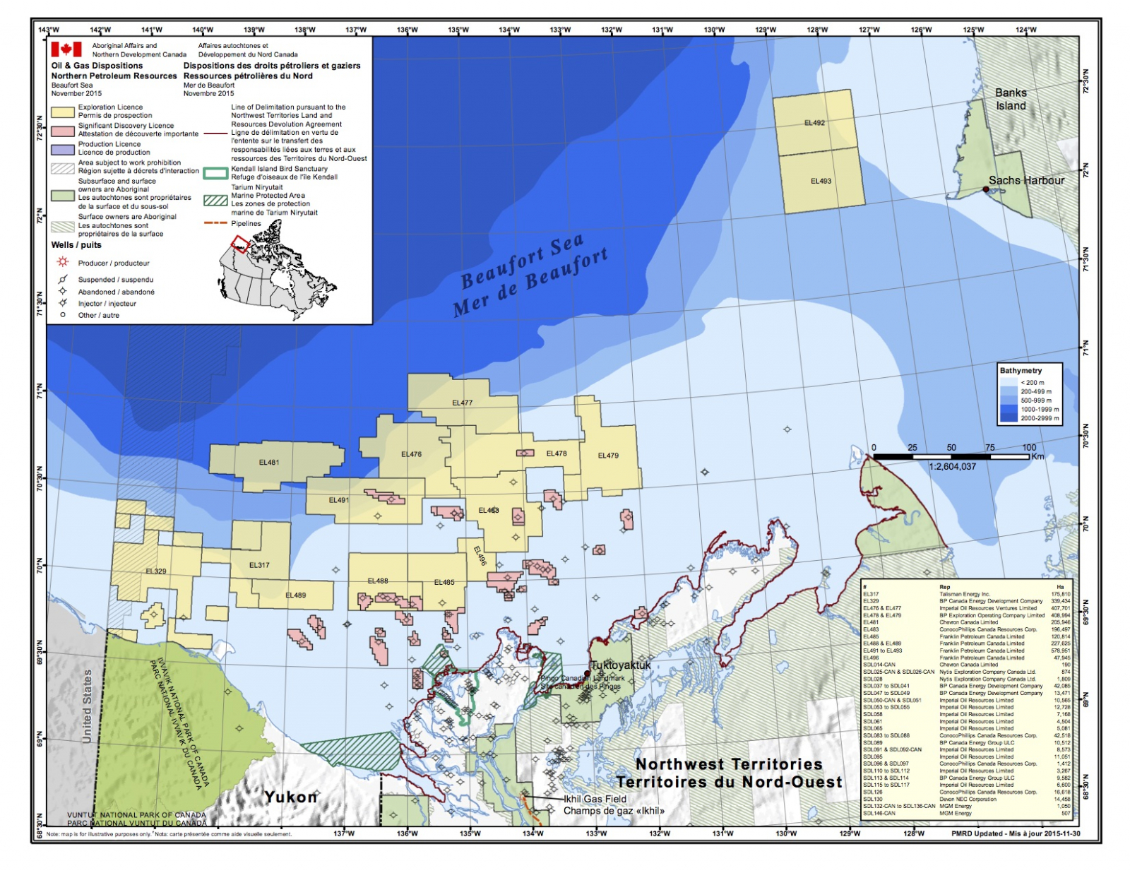 Oil and gas resources map in Arctic Ocean