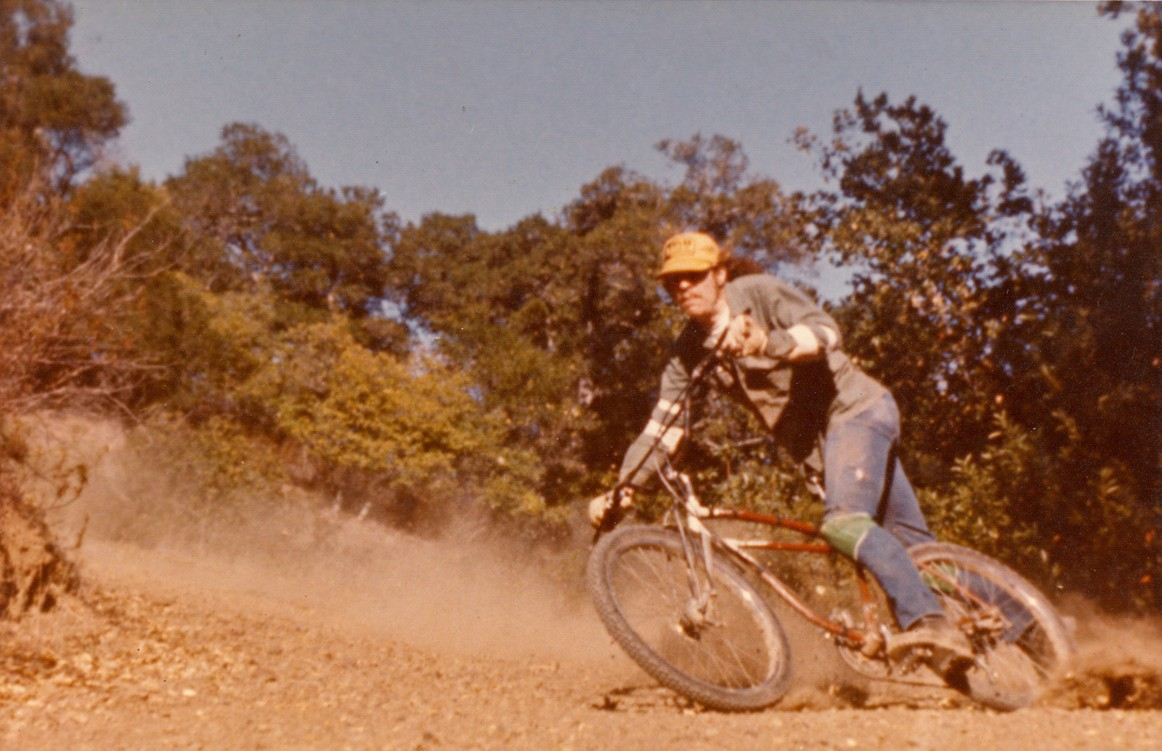 Mountain bike pioneer Charlie Kelly on Mount Tam in the '70s. Photo from Charlie Kelly