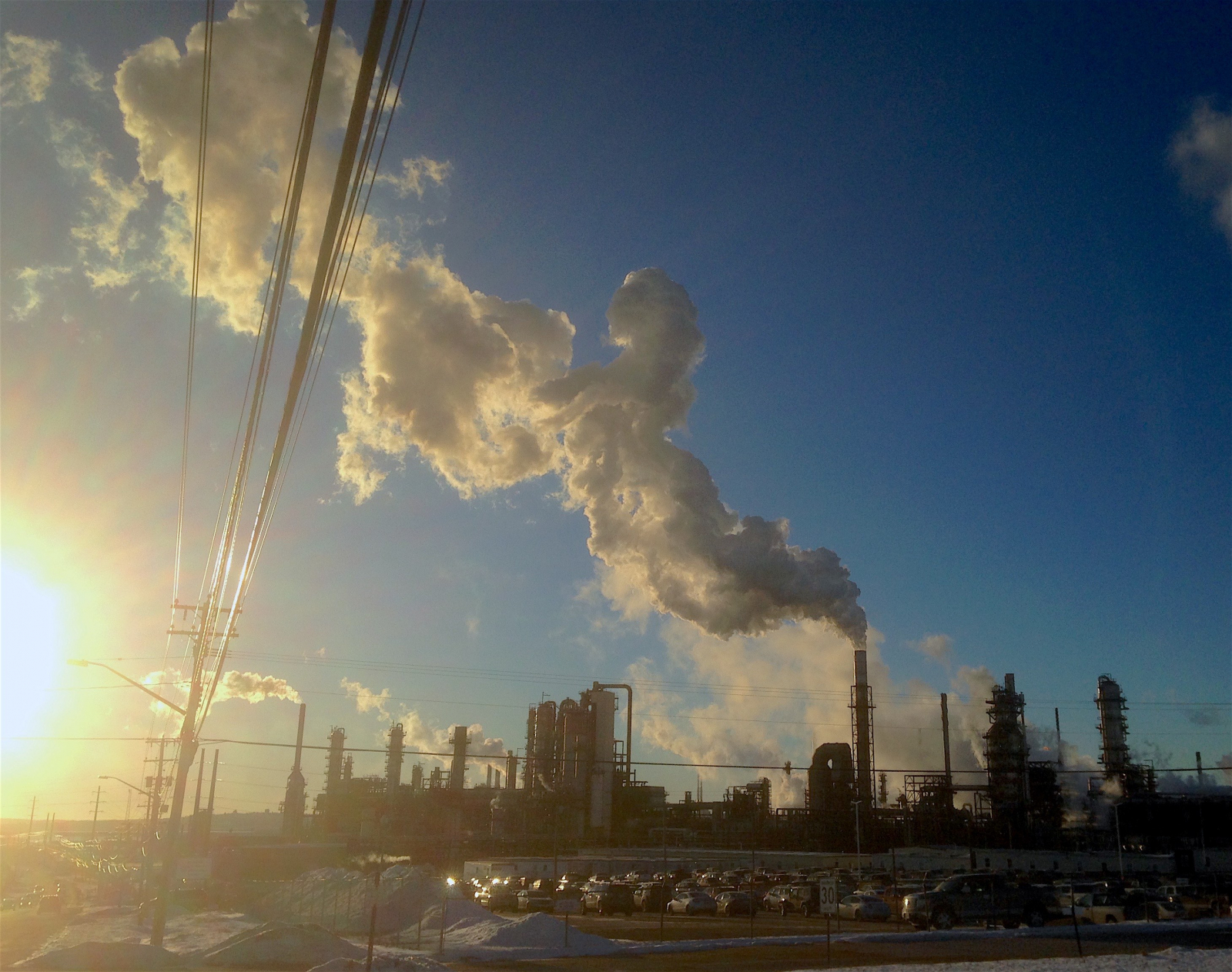 Irving Oil, refinery, plume, pollution, Irvings