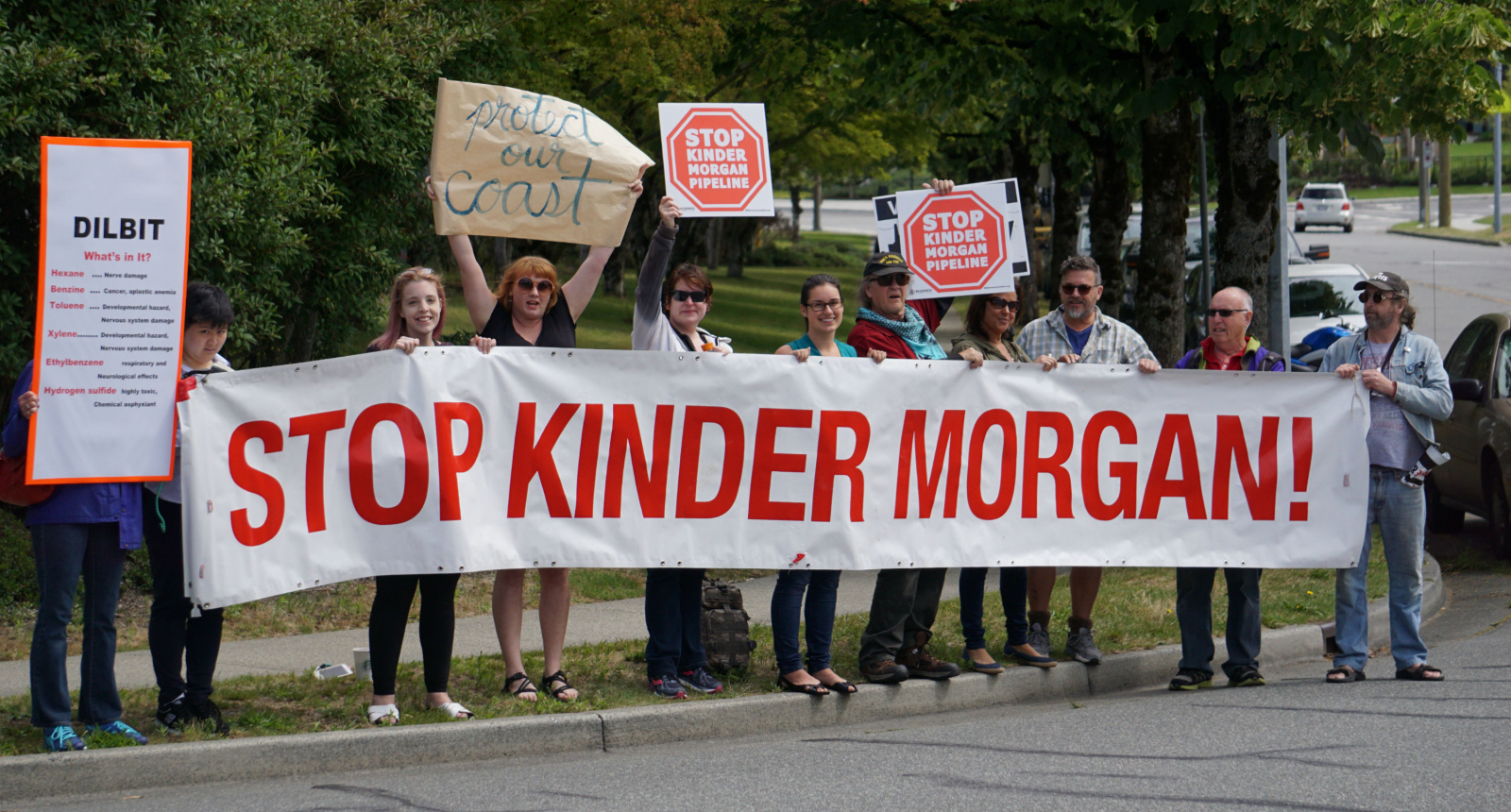 Kinder Morgan, Trans Mountain expansion, protest, demonstration, Burnaby