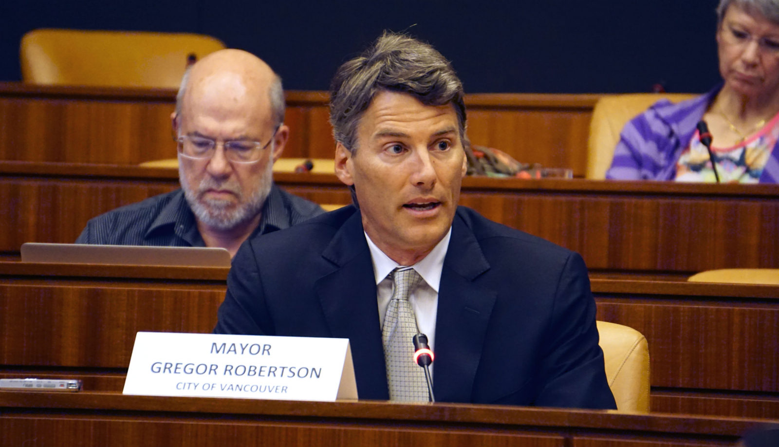 Gregor Robertson, Vision Vancouver, Vancouver mayor, Kinder Morgan, Trans Mountain expansion