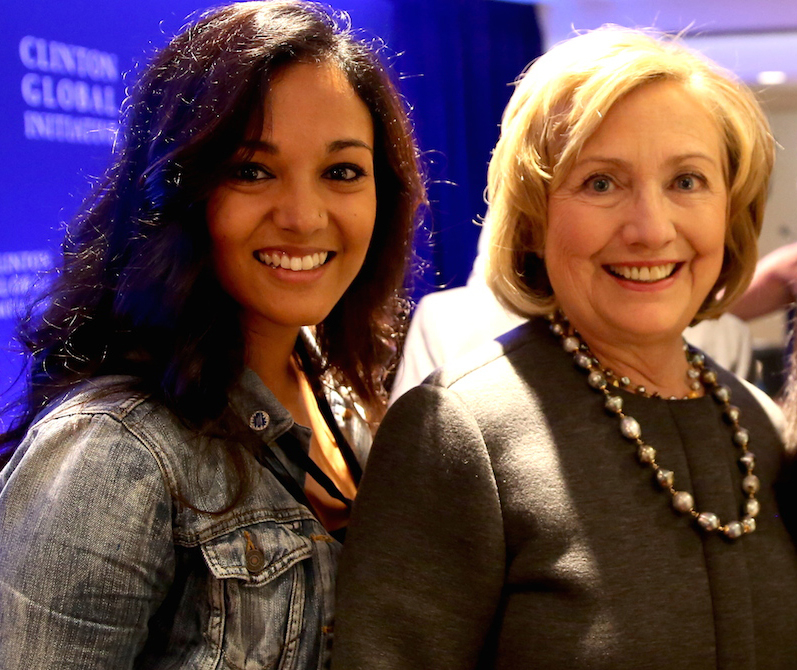 Komal Minhas, Dream Girl, Hillary Clinton, Clinton Global Initiative
