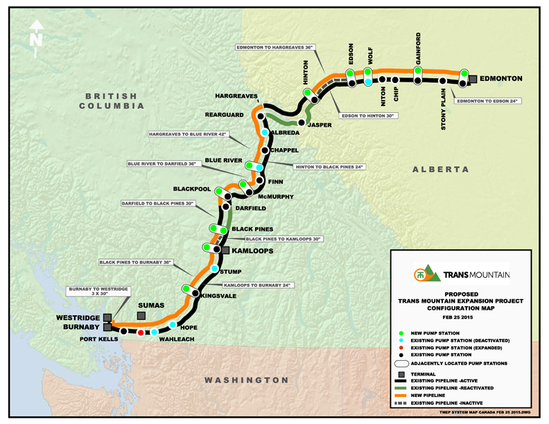 Here Are The Major Canadian Pipelines The Oil Patch Wants Built - Map of northwest us and canada