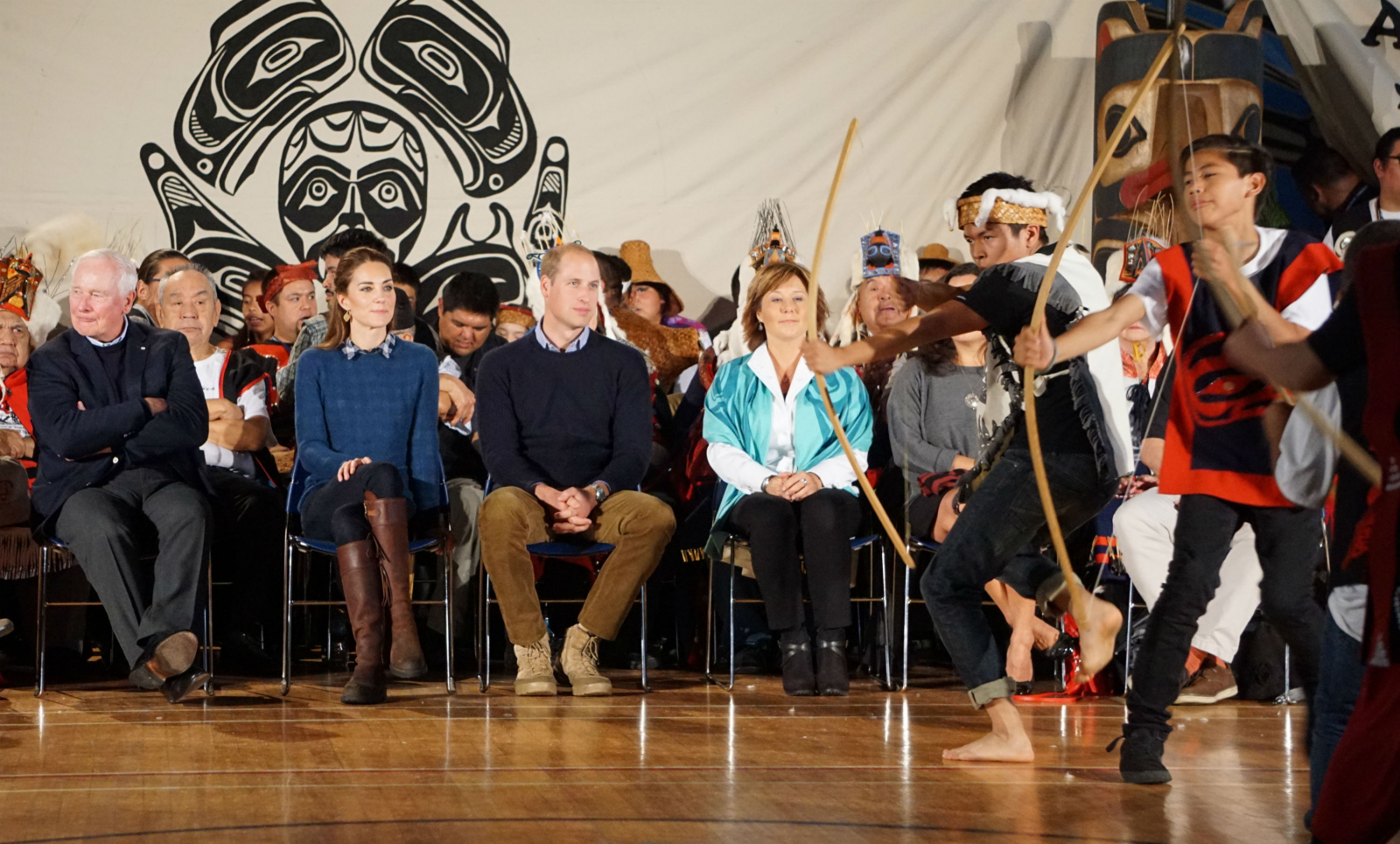 Heiltsuk First Nation, Bella Bella, Great Bear Rainforest, Royal Tour, Will and Kate