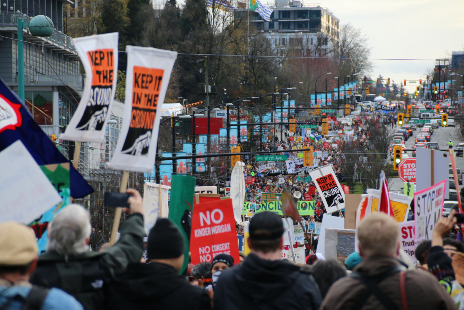 Kinder Morgan, protest, Vancouver, Trans Mountain