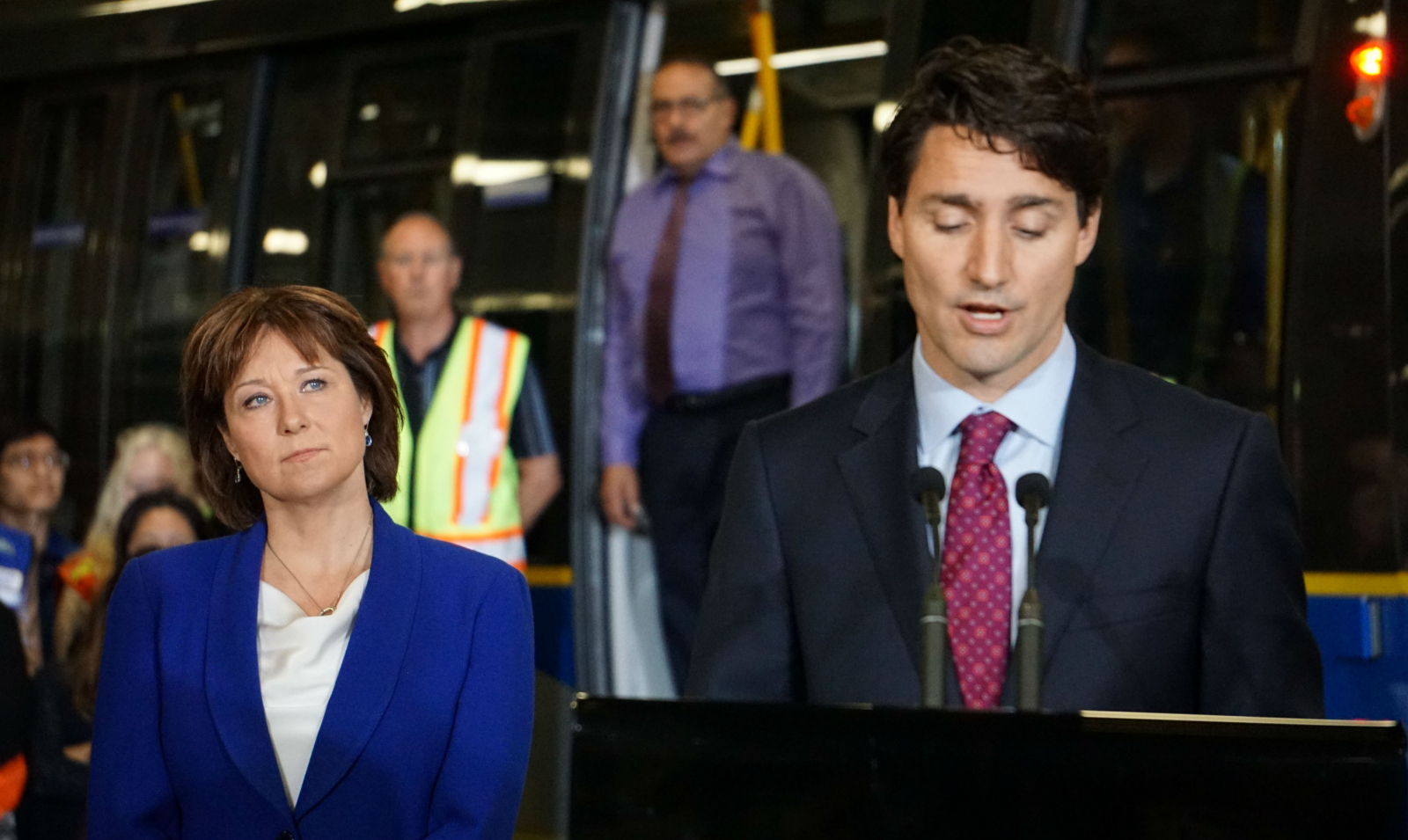 Christy Clark, Justin Trudeau, Kinder Morgan, Trans Mountain expansion, Burnaby