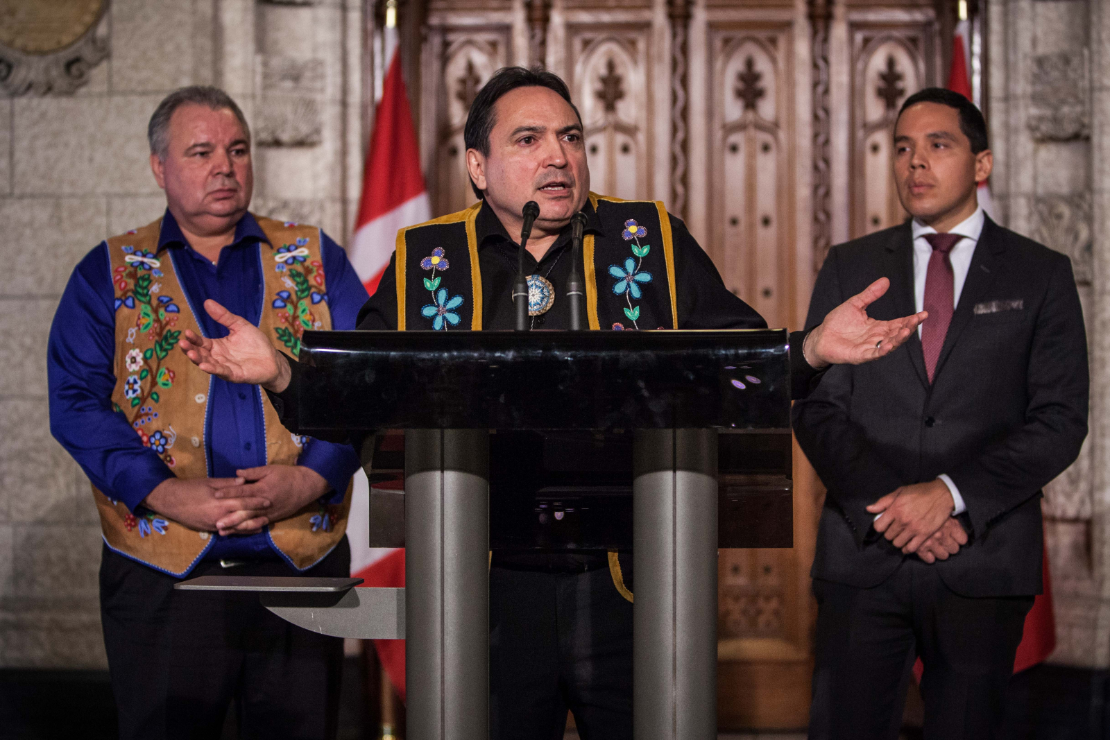 Perry Bellegarde, Natan Obed, David Chartrand, reconciliation