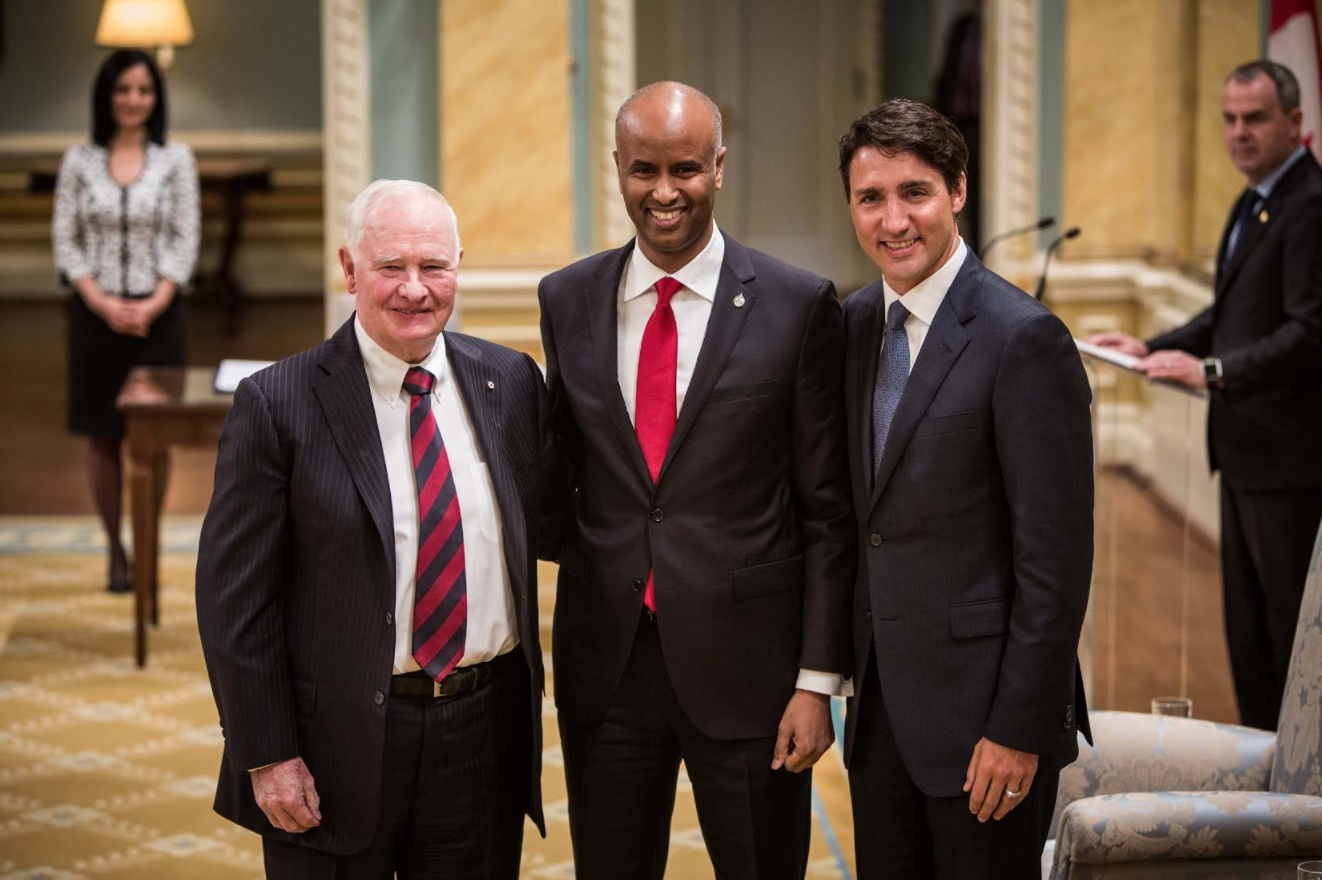 Ahmed Hussen, Immigration Refugees and Citizenship, Rideau Hall, minister