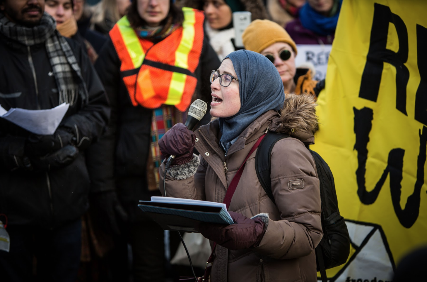 Amira Elghawaby, National Council of Canadian Muslims, Ottawa, human chain
