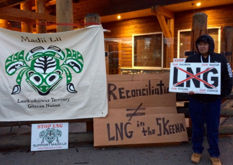 LNG, Christy Clark, protest, indigenous rights, Gitxsan First Nation