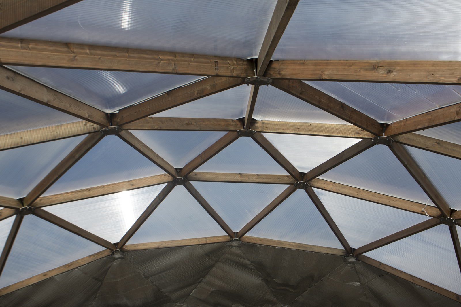 The roof of the Growing North greenhouse in Naujaat, Nunavut. Photo by Growing North