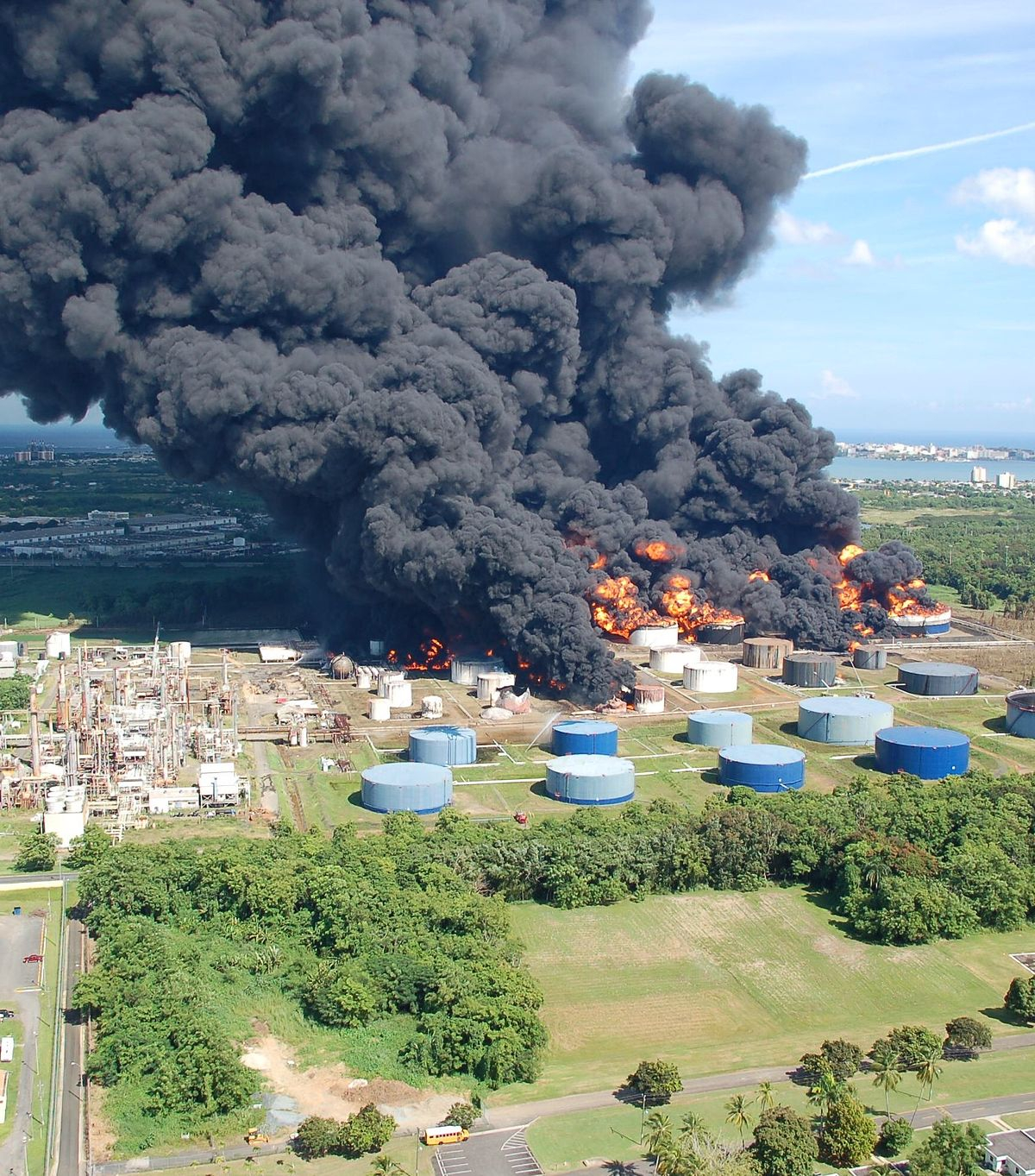 2009 tank farm fire in Puerto Rico.