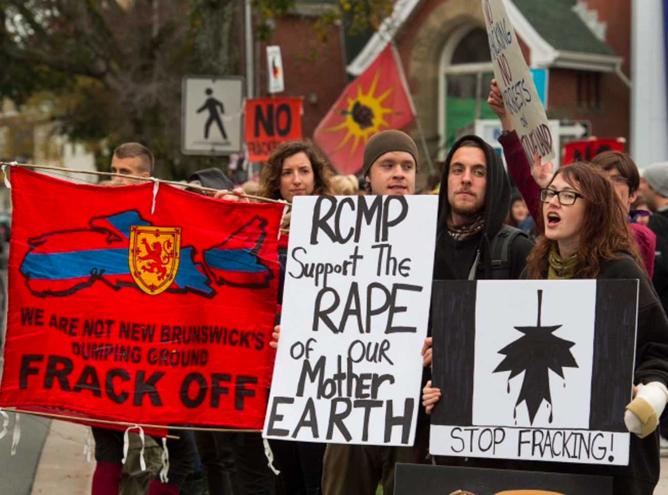 Elsipogtog First Nation, fracking, protest, oil and gas, New Brunswick