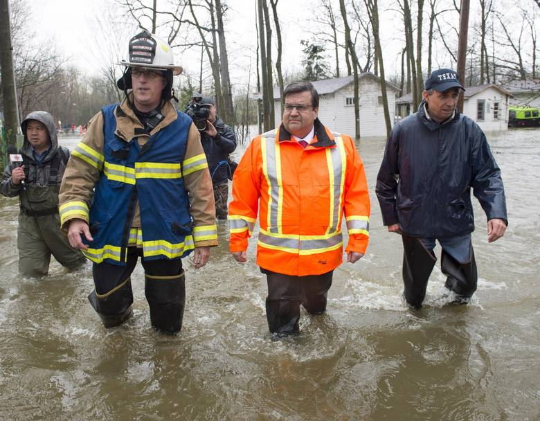 Denis Coderre, Richard Bélanger, flood, Montreal, Ile-Bizard