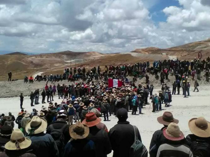 Human Rights Without Borders Cusco, Constancia mine, Peru, Hudbay Minerals,