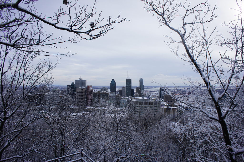 Montreal, skyline, winter