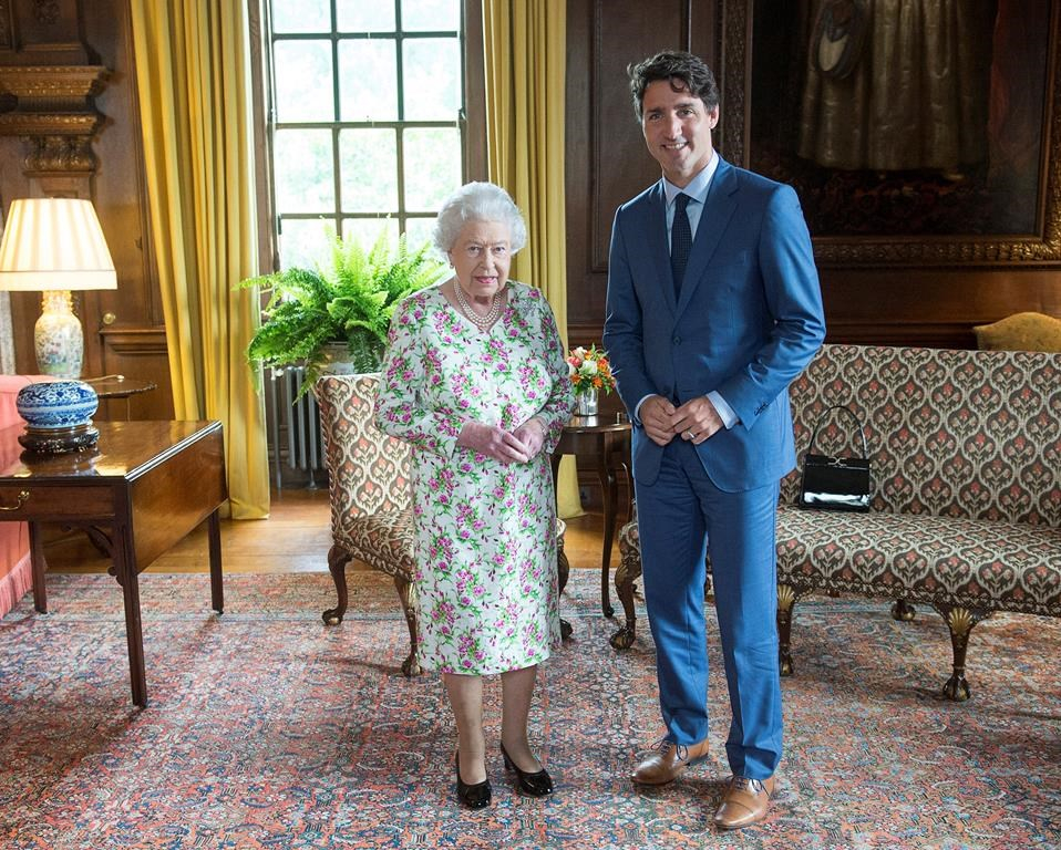 Prime Minister Justin Trudeau, Queen Elizabeth, Holyrood Palace, official residence, Edinburgh