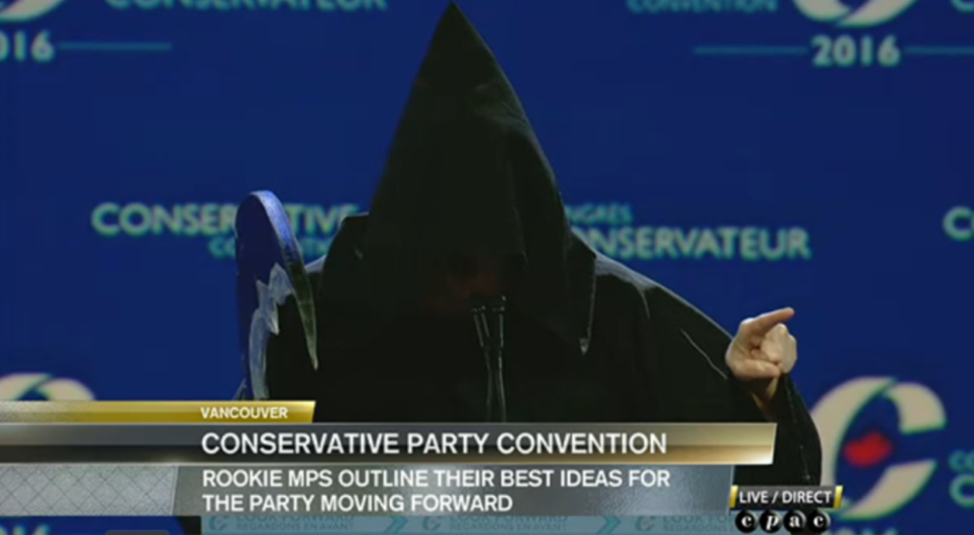 Grim Reaper, Marilyn Gladu, Conservative Party Convention