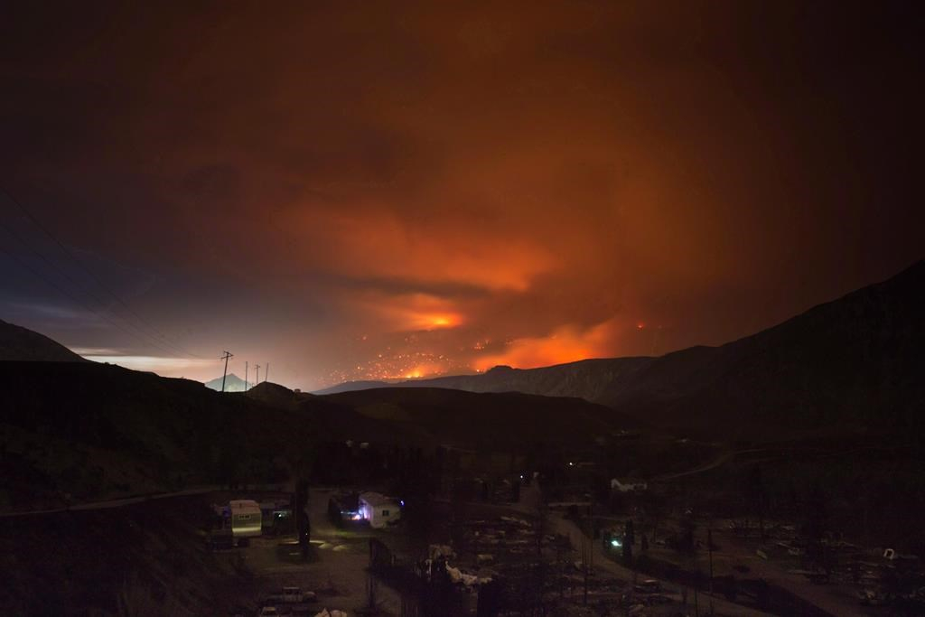 wildfire, Cache Creek, trailer park, Boston Flats,