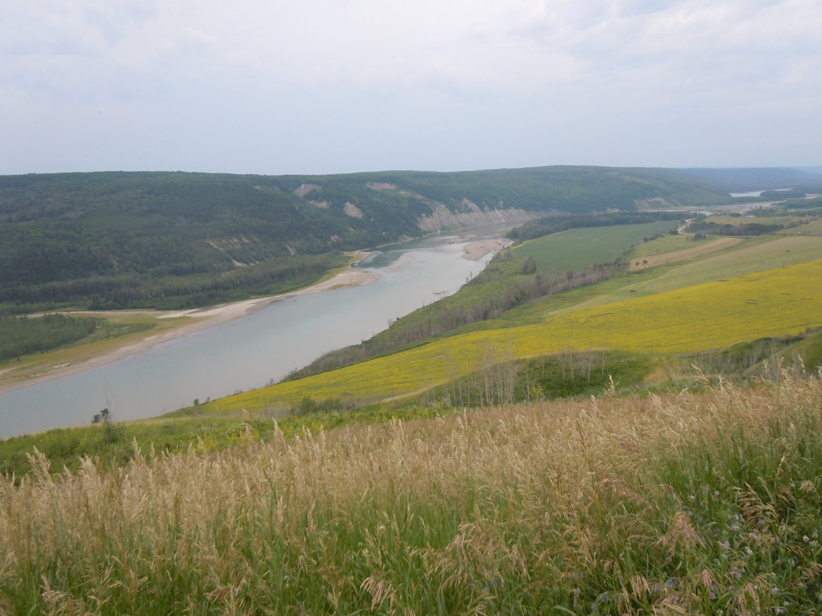 Peace River Valley, looking east from Hudson's Hope - Warren Bell