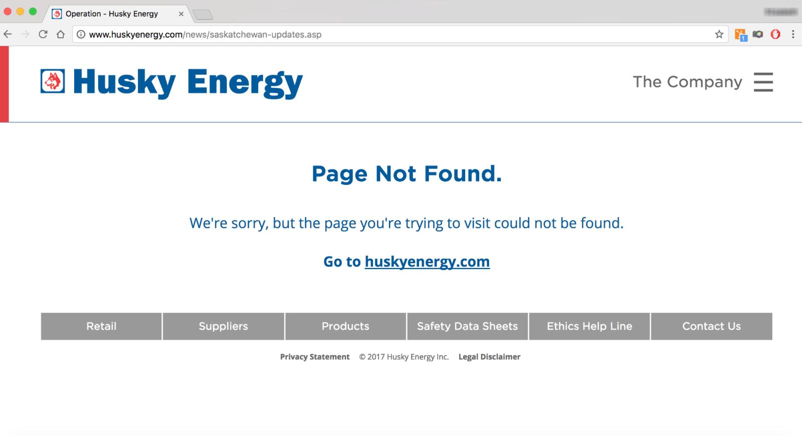 Husky Energy, Husky oil spill, transparency, press release, spill updates