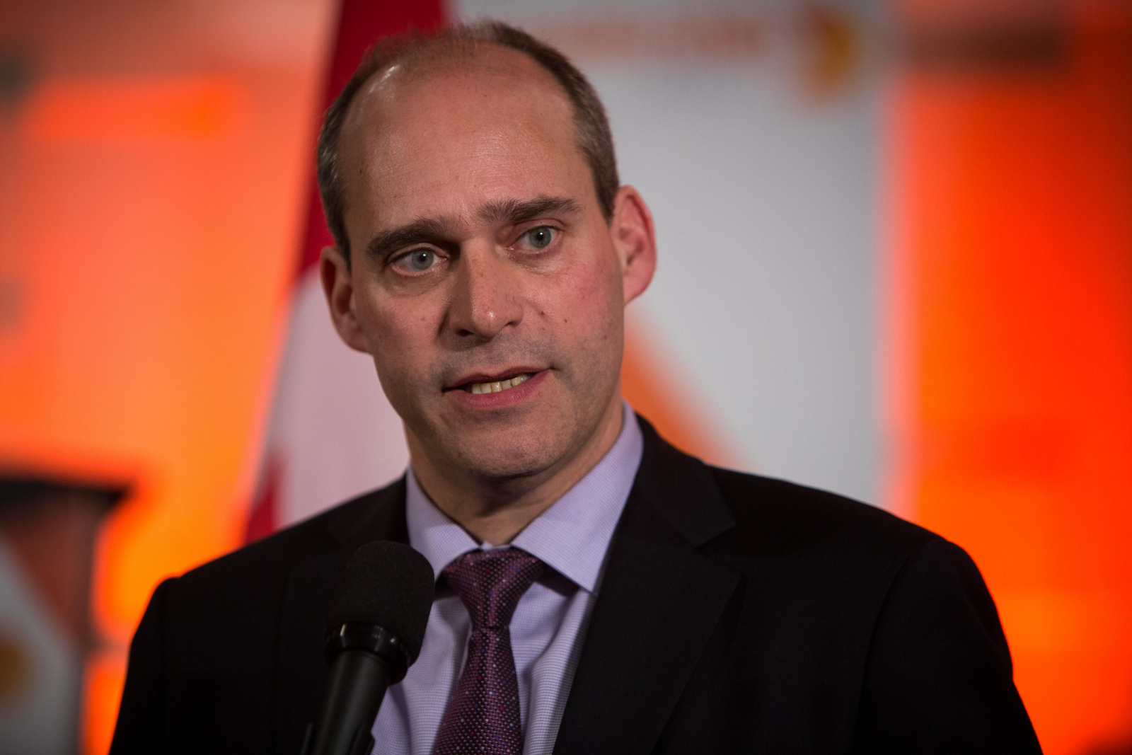 NDP Leadership hopeful Guy Caron, scrum, Ottawa