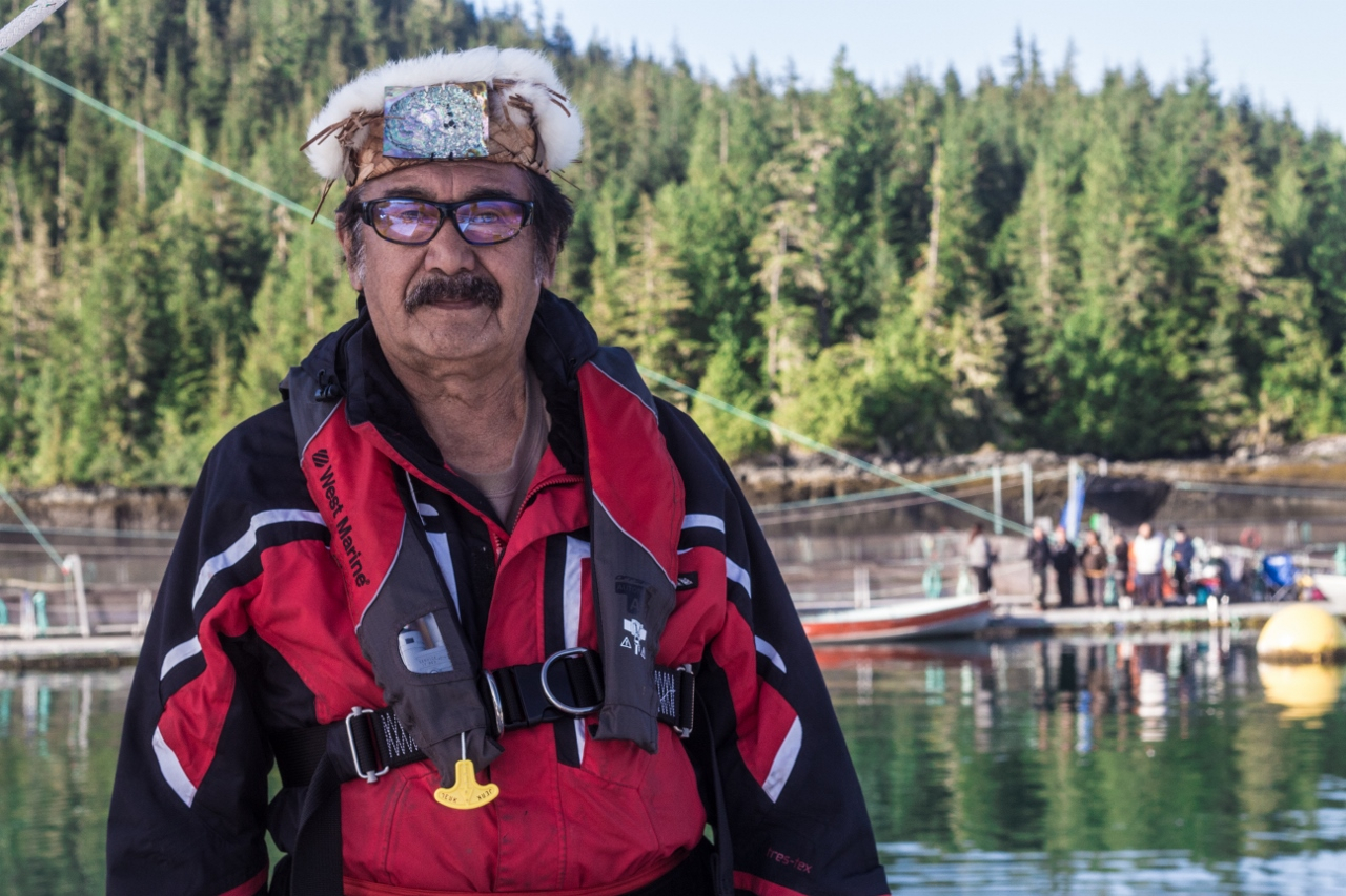 Chief George Quocksister Jr., Swanson Island, British Columbia, salmon, fish farms