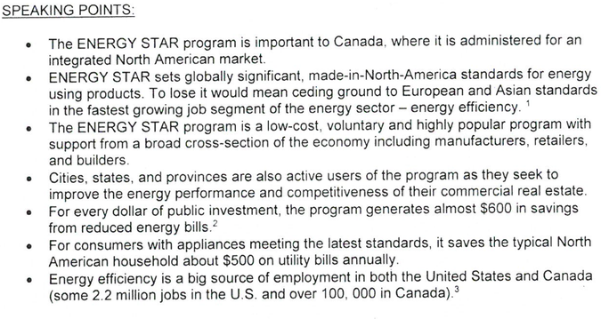 Natural Resources Canada, ENERGY STAR, Donald Trump, office of energy efficiency, Environmental Protection Agency