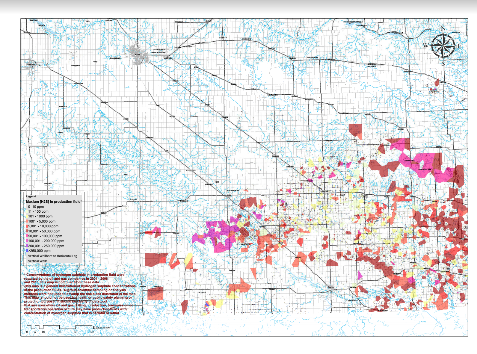 Saskatchewan, critical sour gas locations, Ministry of the Economy, The Price of Oil