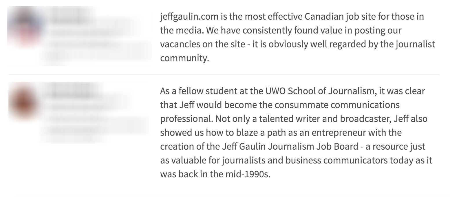 Jeff Gaulin, Canadian Association of Petroleum Producers, Journalism Job Board, oil and gas